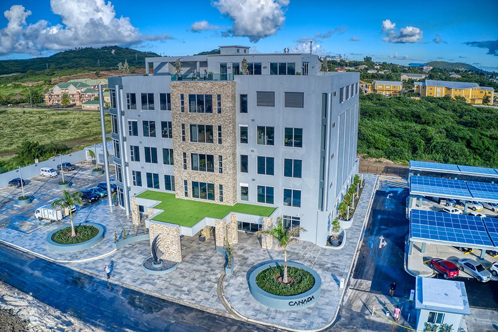 Calvin Ayre opens 'most impressive building on the island' deemed a modern green facility