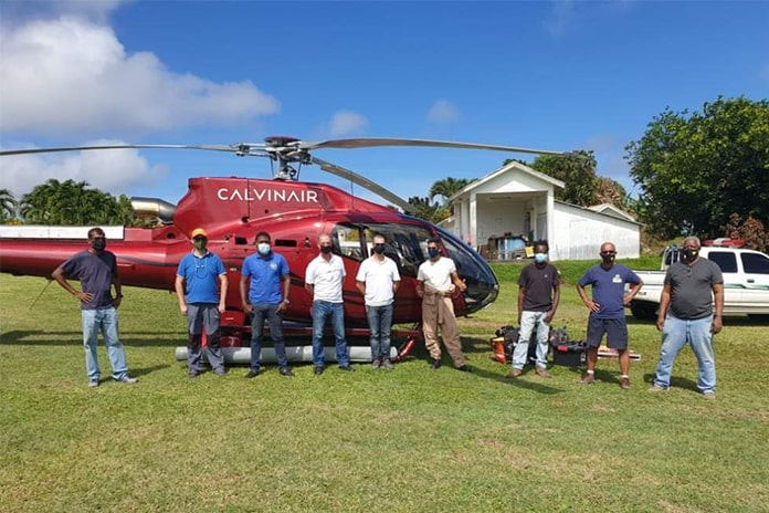 CalvinAir Helicopters assisting with monitoring St. Vincent volcano